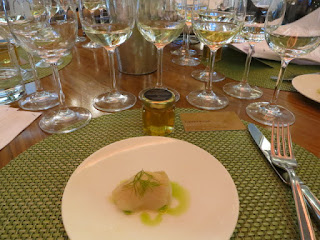 Tasting Plate #1: The Whites with White Fish Ceviche