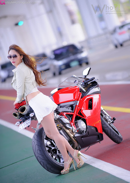 3 Jo Ye Jin and Ducati-very cute asian girl-girlcute4u.blogspot.com