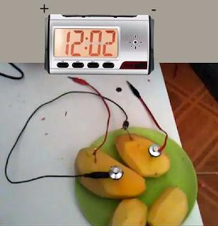 experimento del reloj de papa casero