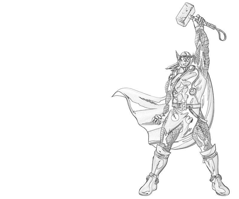 Free coloring pages of thor hammer