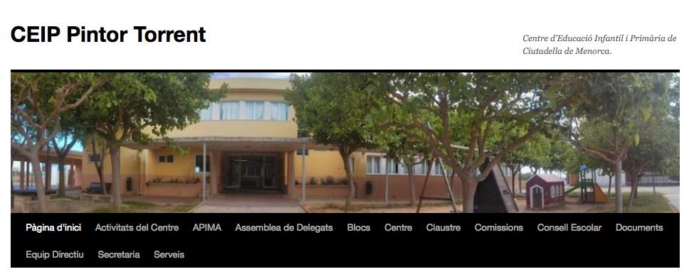 PÀGINA WEB DE L'ESCOLA