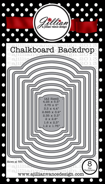 chalkboard backdrop die set