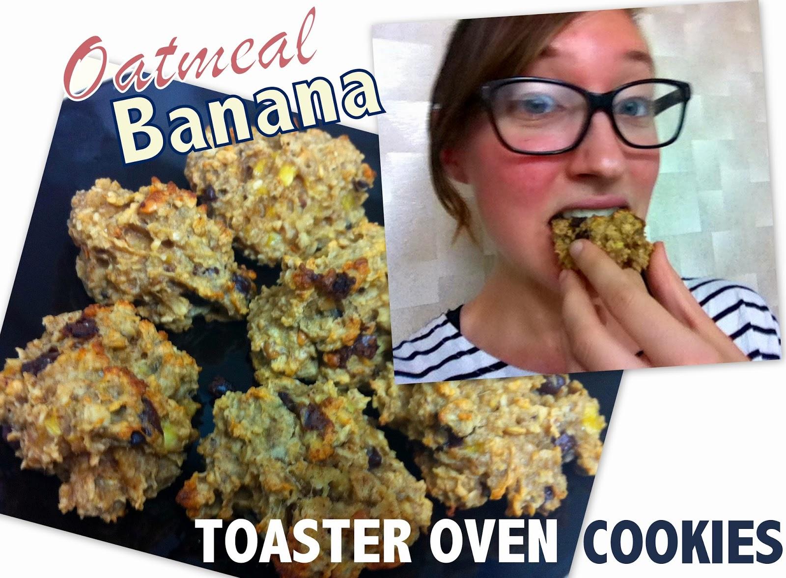 Oatmeal banana toaster oven cookies