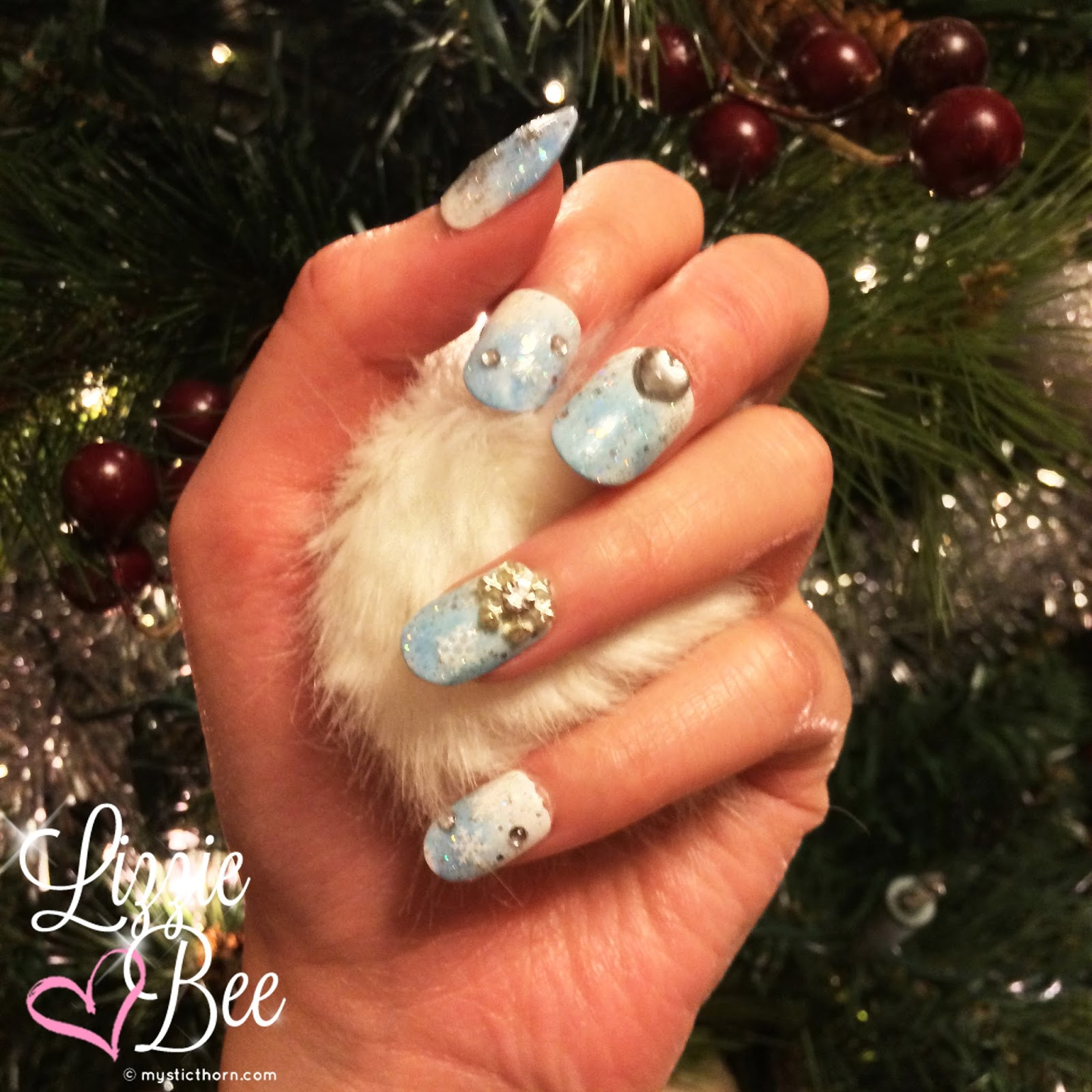 christmas gyaru nails
