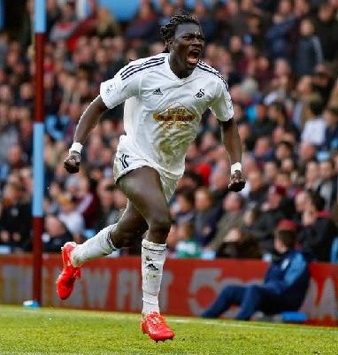 Gol Telat Bafetimbi Swansea Pupuskan Kebangkitan Aston Villa