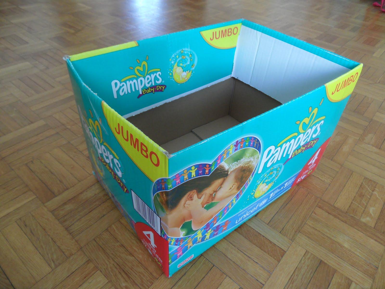 Reutilizar y crear cajas de carton de panales etc - Cajas para organizar juguetes ...