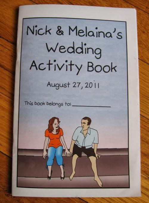 tyler and kelsies wedding activity book