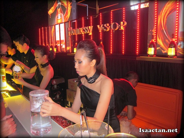 We got to mix our drinks ourselves over at the Hennessy Mix counter