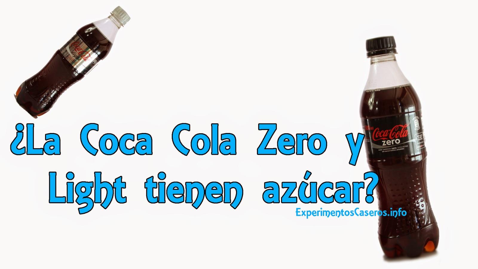 experimentos caseros: ¿la coca cola zero y la coca cola light tienen