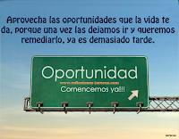 Reflexiones de Vida, oportunidad,
