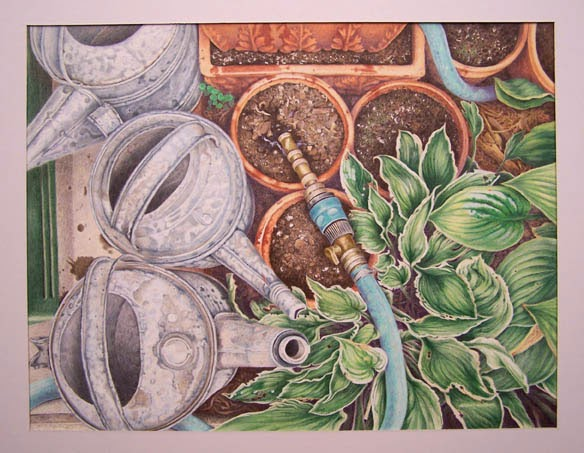 """""""Summer's End"""" 15.50x20.75 Colored Pencil 2006"""