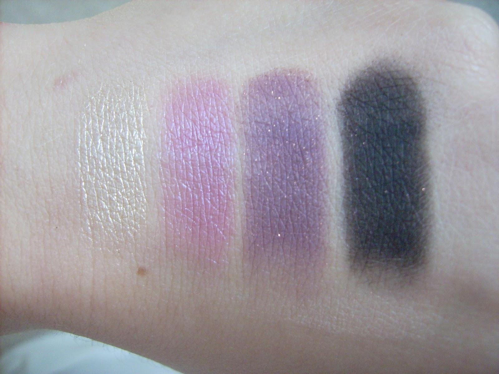 MAC eyeshadows swatch Nylon, Stars 'n' rockets, Trax, Beauty marked