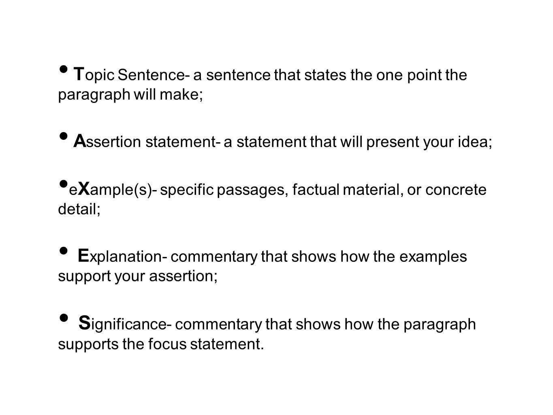how many sentences make a paragraph
