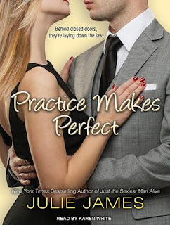 Book cover of Practice Makes Perfect by Julie James (contemporary romance)