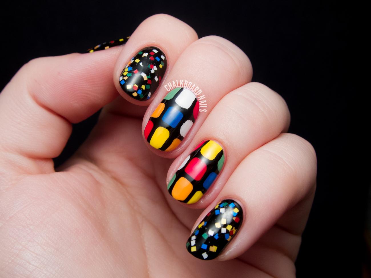 Rubiks Cube Nail Art Chalkboard Nails Nail Art Blog