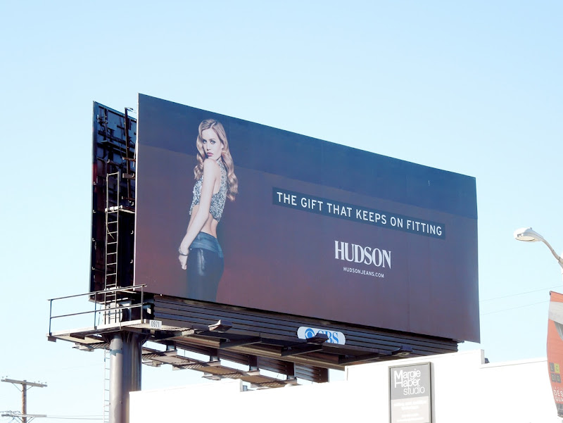 Hudson gift keeps fitting billboard