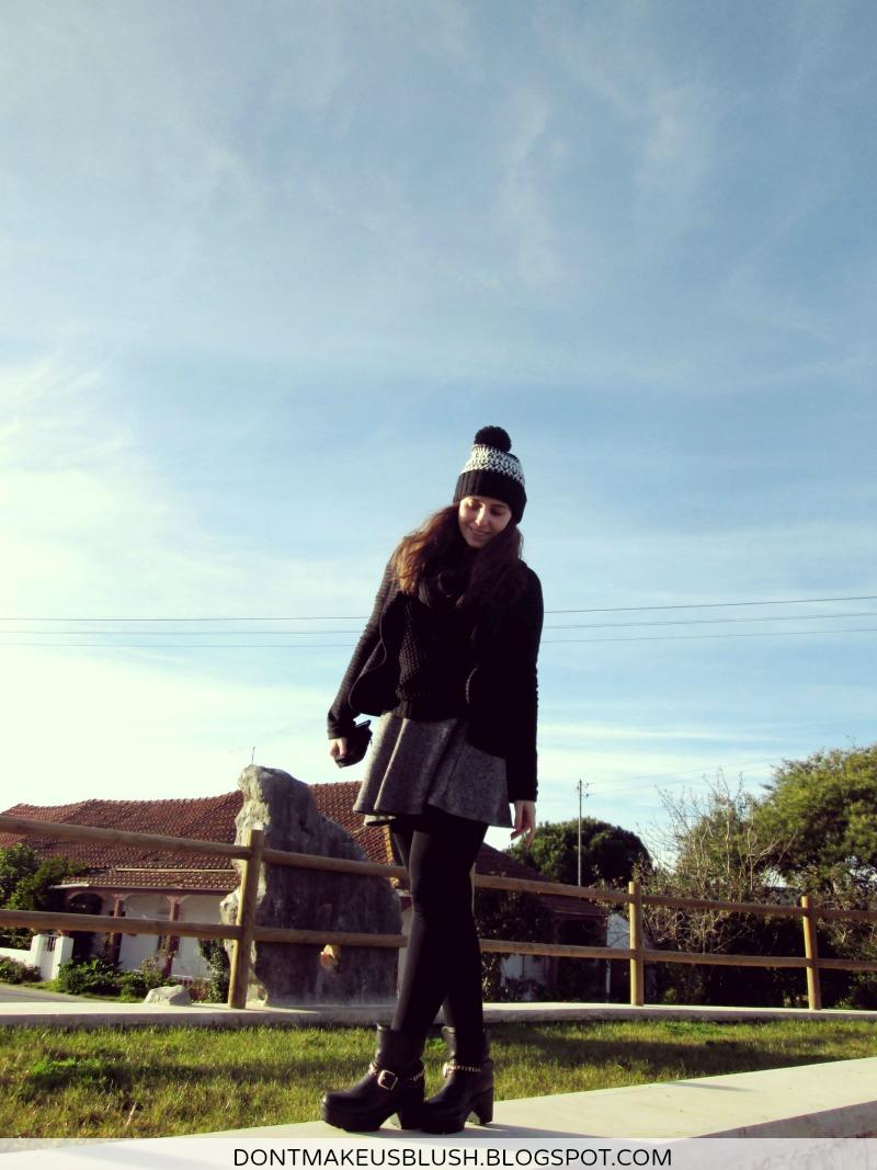 girl sky winter