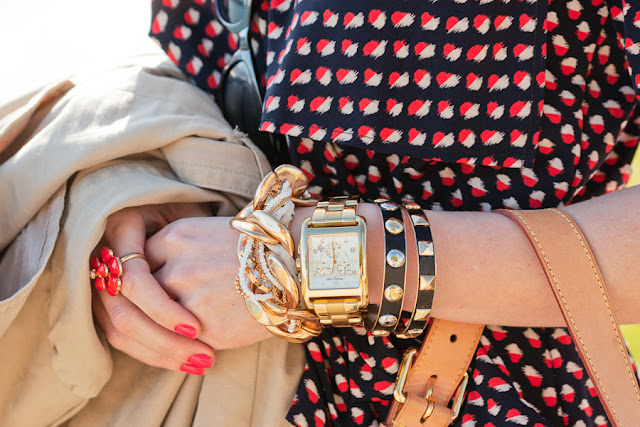 Dale+Steliga +Savvy+Spice +Detail+Michael+Kors+watch,+OPI+nail+polish,+red+white+and+navy+blue+dress