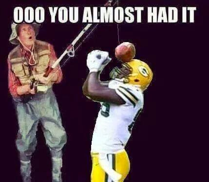 ooo you almost had it - #BrandonBostick #NotaCatch #Packershaters