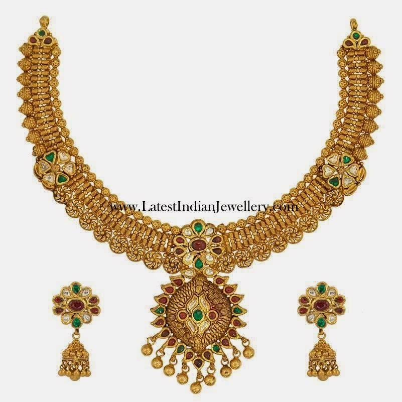 Grand Bridal Gold Necklace Set