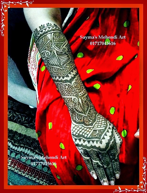 New types of Mehndi Designs 2014