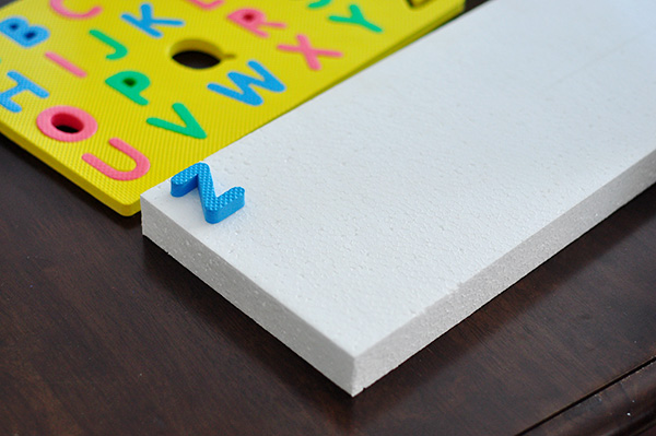 The cheese thief diy extra large letter stamps for Giant foam letters diy