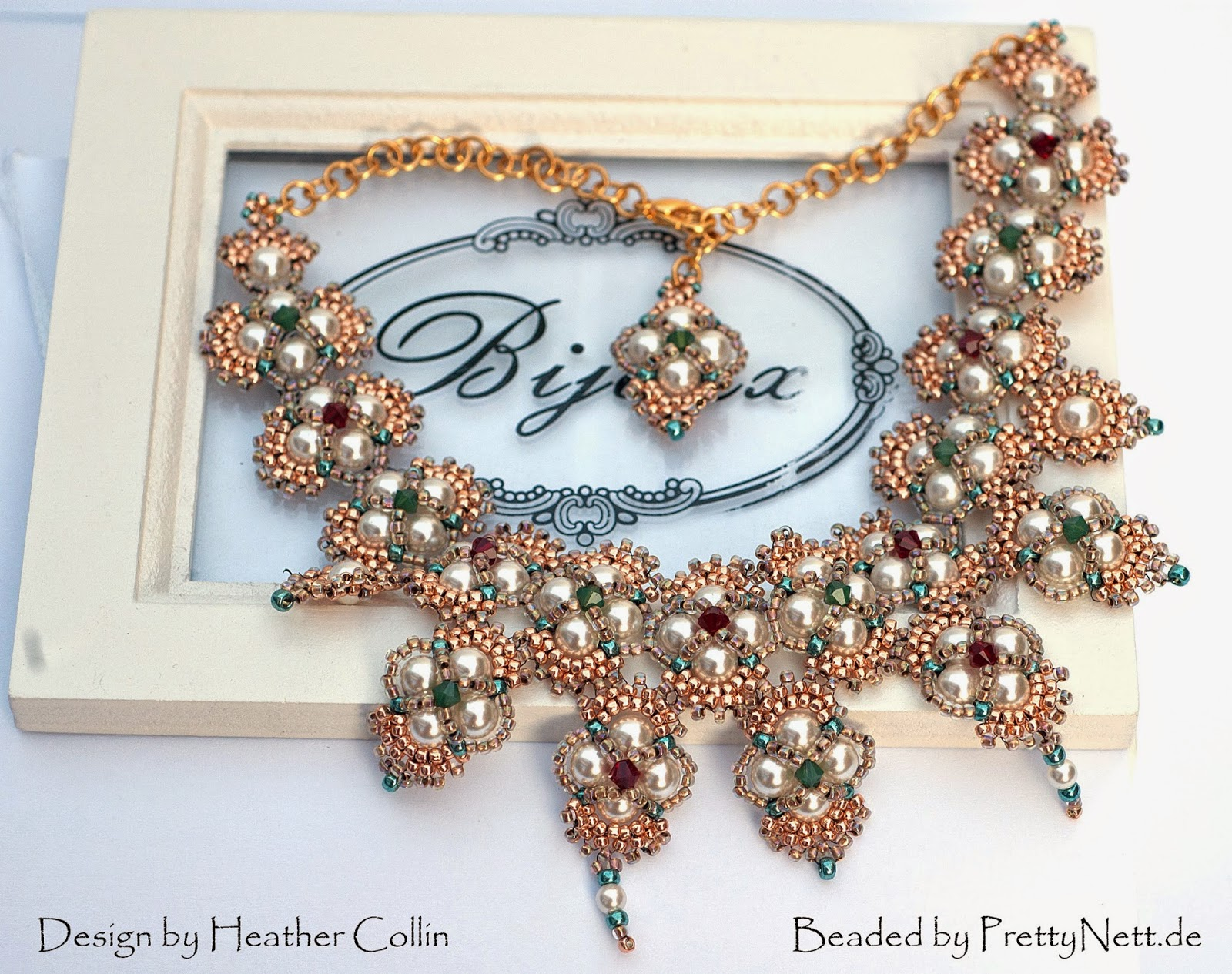 "Necklace ""Hindia"" beaded by PrettyNett.de"