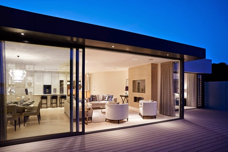 Hogares frescos casas con atractivo contempor neo y for Casa di vetro contemporanea