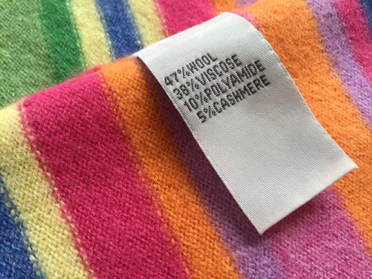 fabric label fibre blends