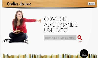 Confira o banner do site Orelha do Livro.