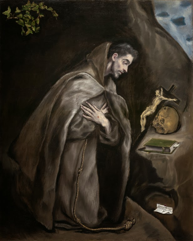 comparing el grecos st francis venerating 0 £000 you have no items in el greco regarded color as the most important element of painting  st francis venerating the crucifix - el greco size: you.