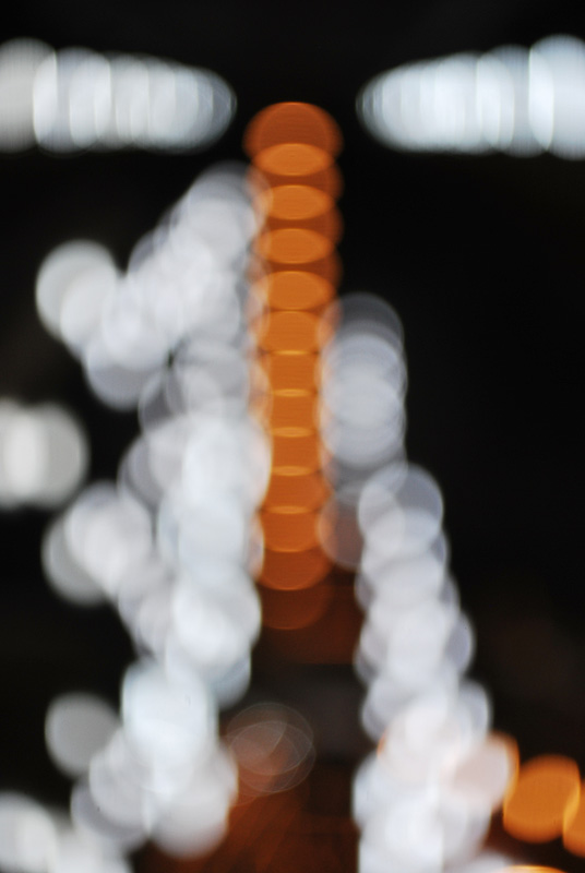 Orange and white light bokeh