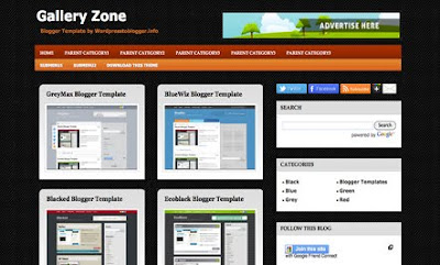GalleryZone Blogger Template