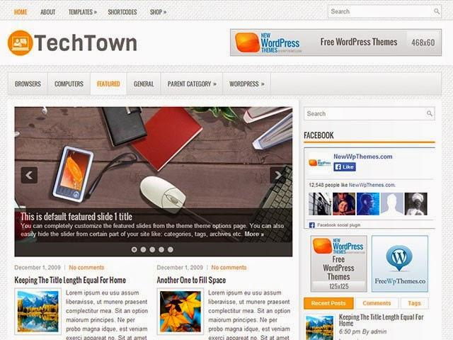TechTown - Free Wordpress Theme