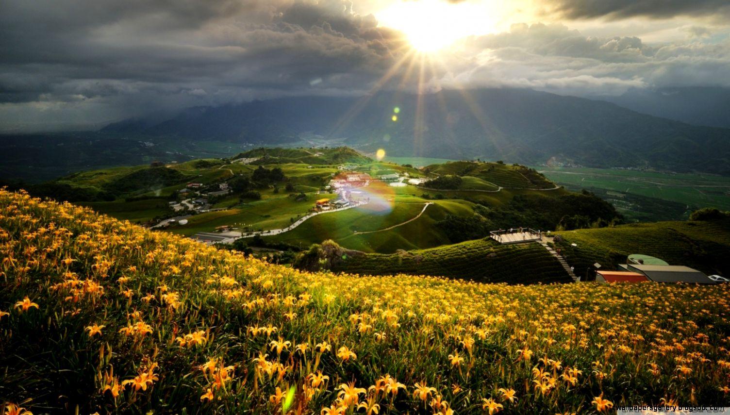 Beautiful Mountain Landscape HD desktop wallpaper  High