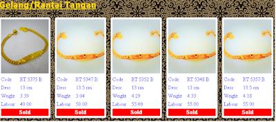 powergold, harga emas semasa, GELANG/RANTAI TANGAN