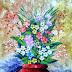Lukisan Rangkaian Bunga dalam Vas MB-069