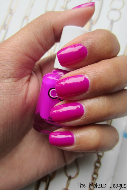 Color Club Nail Lacquer Mrs Robinson Swatch Magenta nail polish