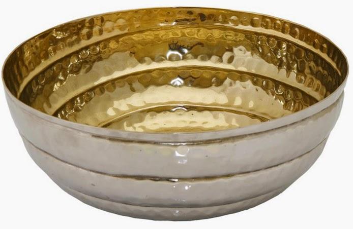 metal decorative bolw espiel gold silver color