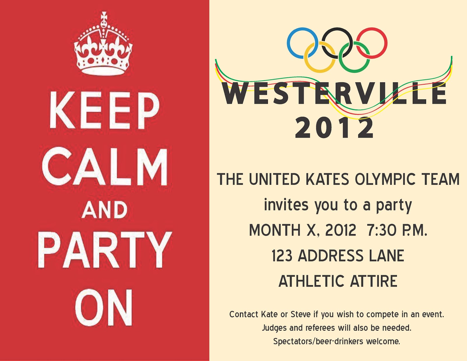 Olympic Birthday Party Invitations Choice Image - Invitation ...
