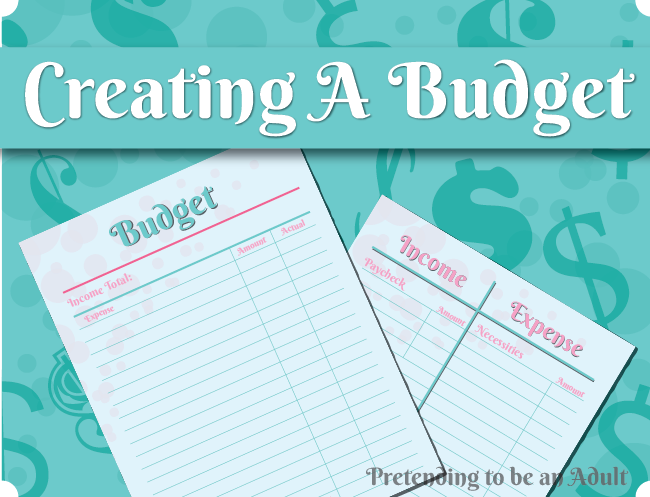 Creating a budget, how to make sure all your bills get paid and maybe even save some cash. Pretending to be an adult