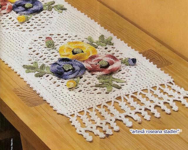 crochecomreceita caminhos com flores
