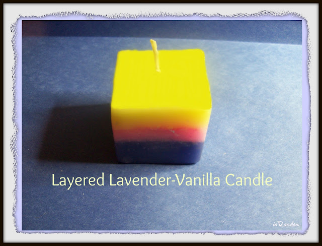 Making a layered scented candle