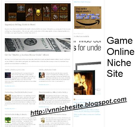 niche site game online