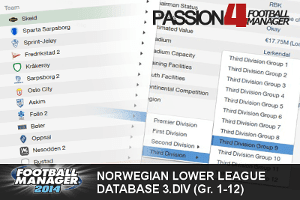 Football Manager 2014 Norwegian Lower League Database