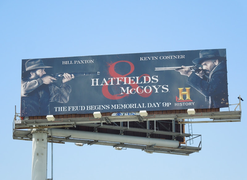 Hatfields McCoys History billboard