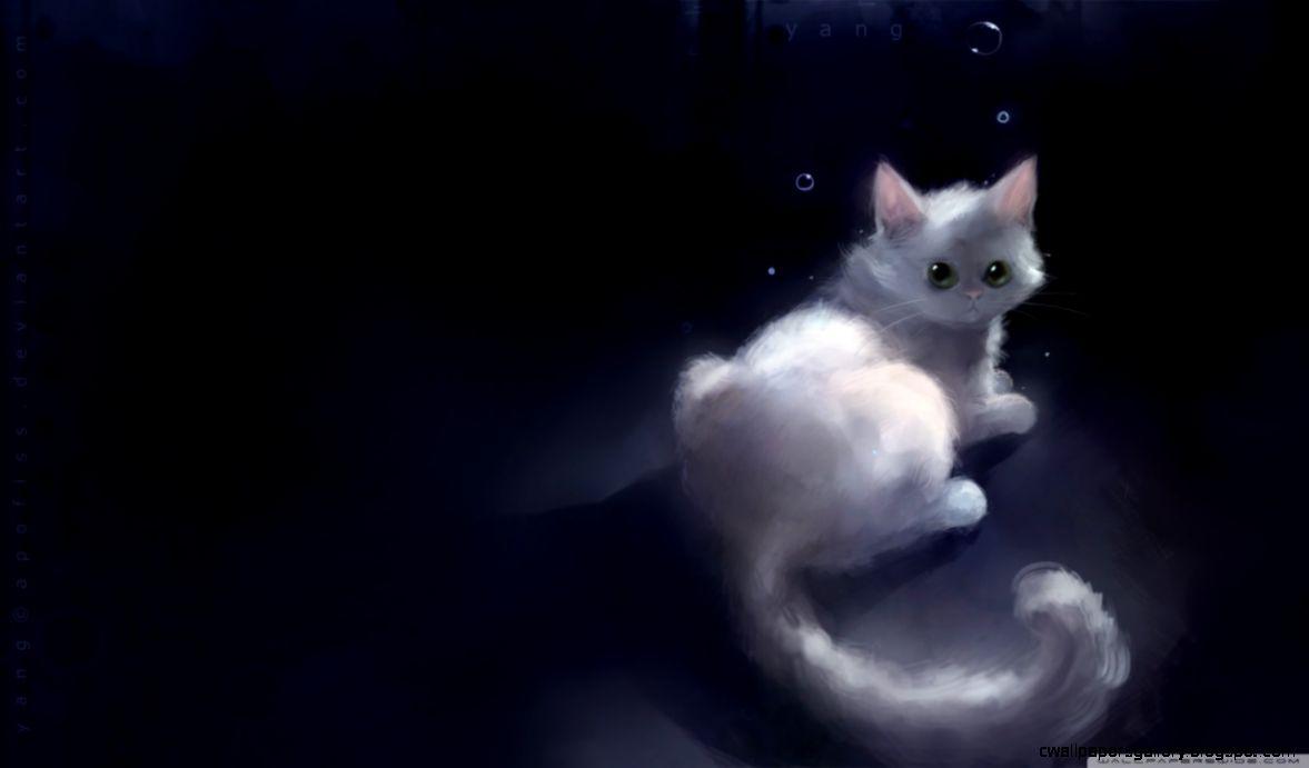 Cute anime cat wallpaper hvgj