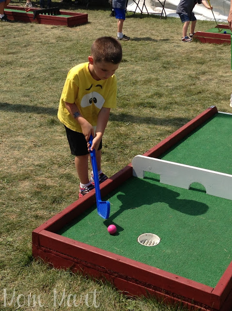 Playing some golf at A Day Out With Thomas