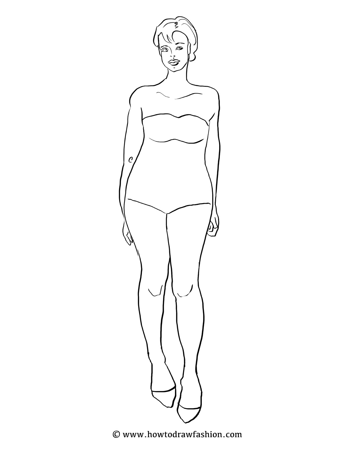 How To Draw Fashion: Fashion Templates (Women)