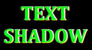 Text Shadow Effect